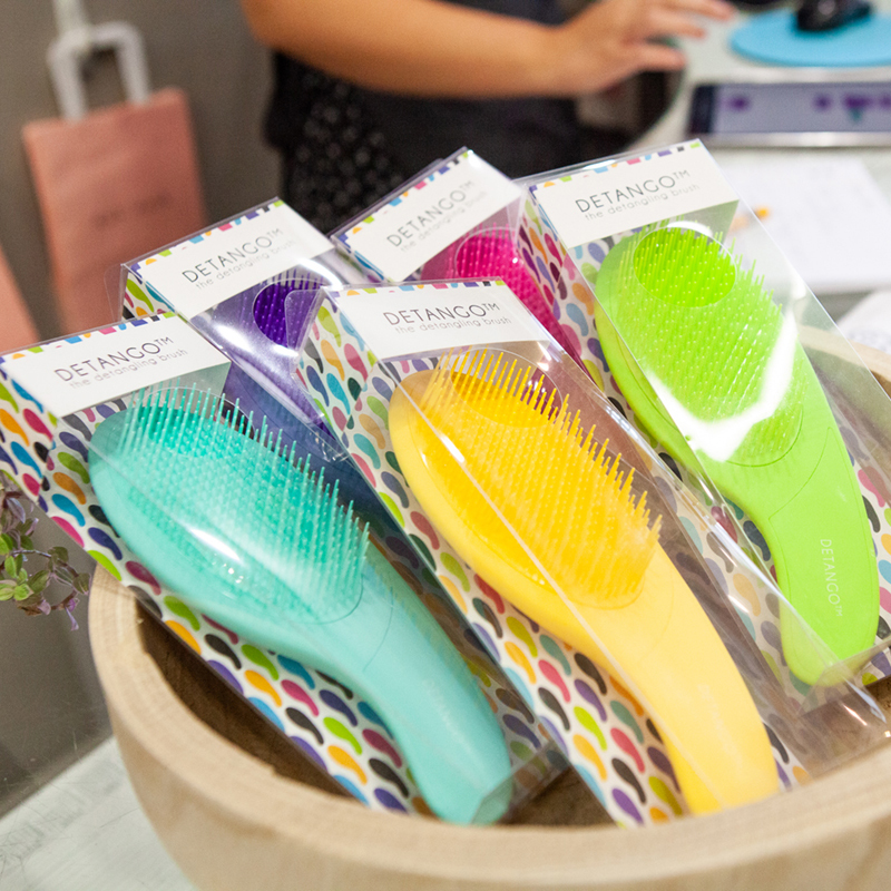 Hair brushes arranged in a bowl - for sale